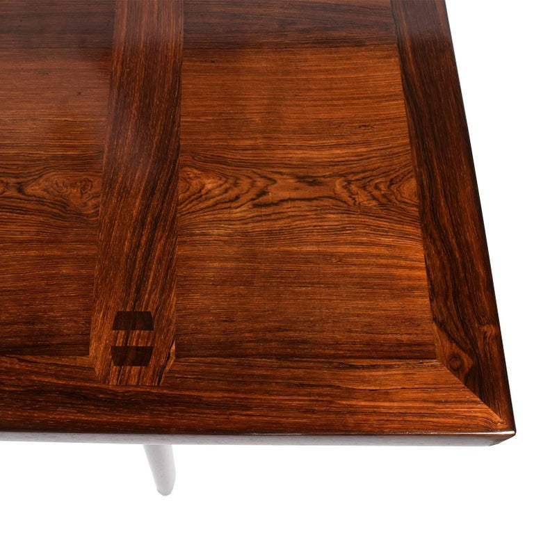 Rosewood Desk by Peter Hvidt and Orla Mølgaard Nielsen for Pontoppidan For Sale 2