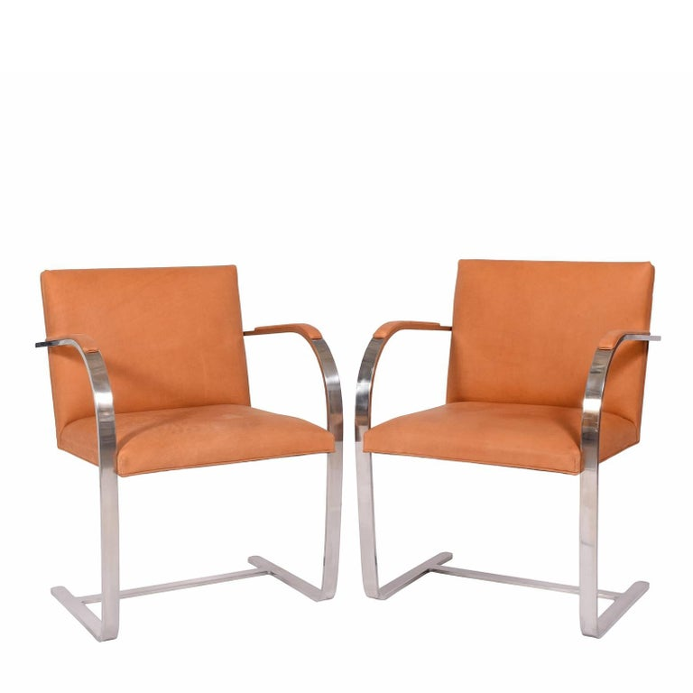 Pair of Brno chairs Mies van der Rohe for Knoll Int.