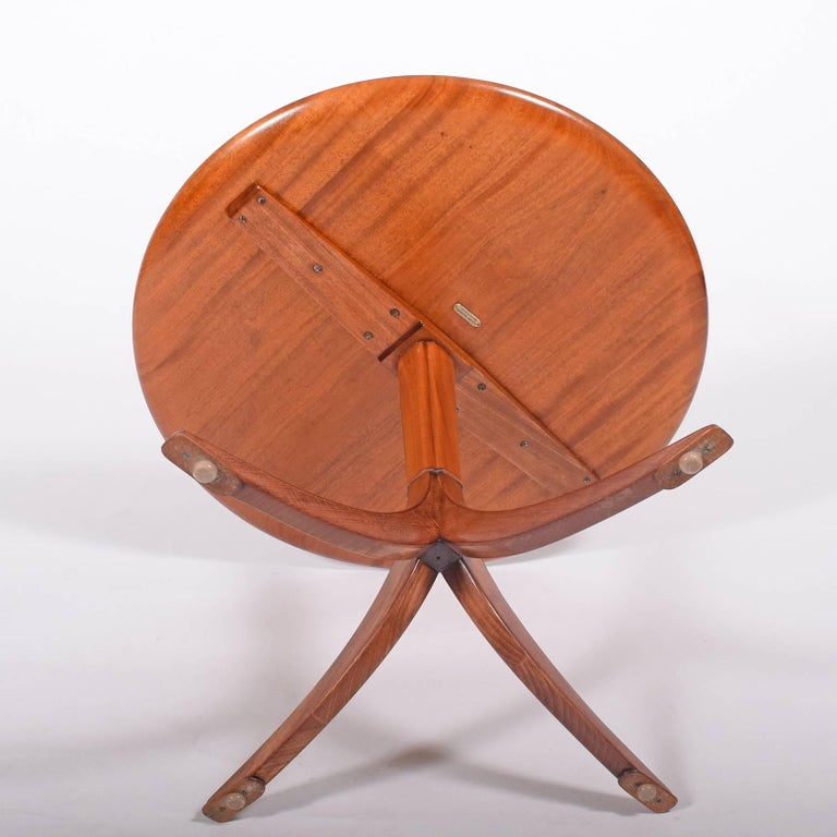 Mid-20th Century Frits Henningsen 1940s Mahogany Occasional Table For Sale
