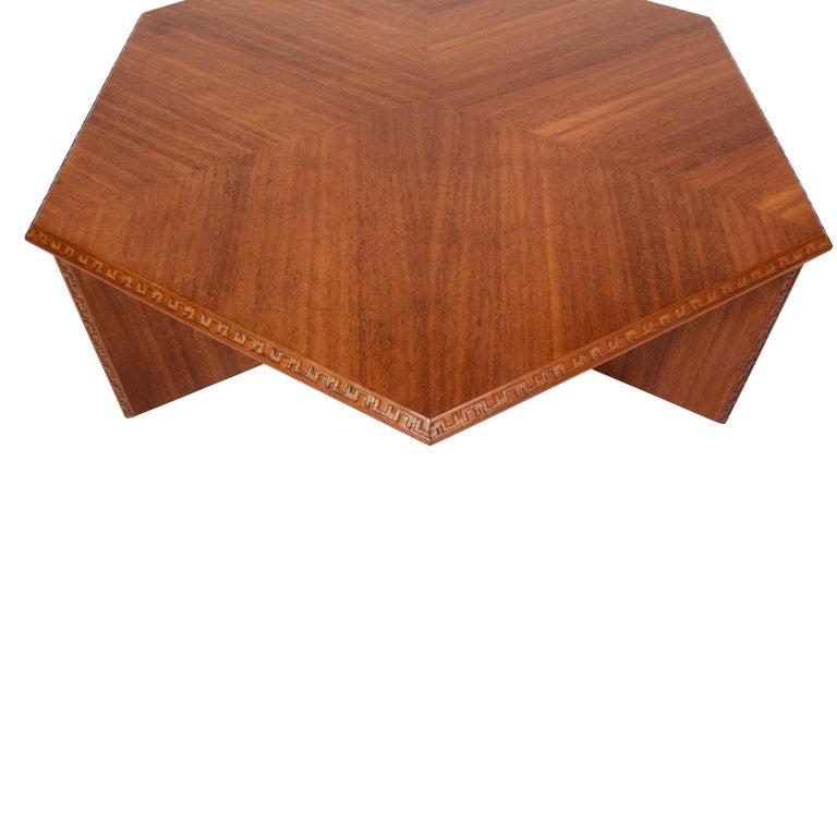 American Frank Lloyd Wright Hexagonal Coffee Table for Heritage-Henredon For Sale