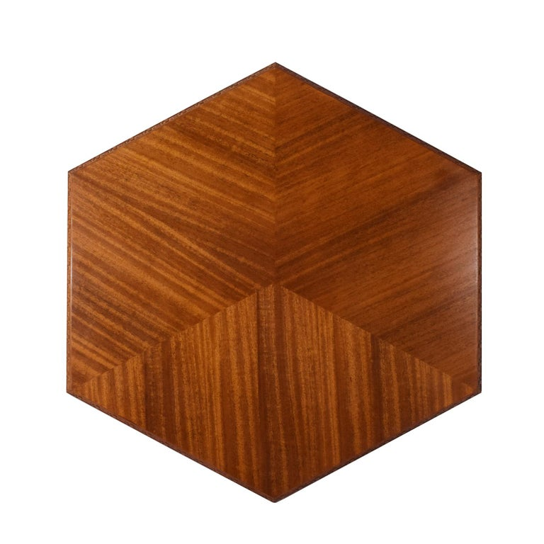 Modern Frank Lloyd Wright Hexagonal Coffee Table for Heritage-Henredon For Sale