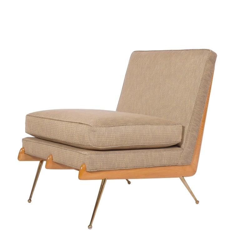 Mid-Century Modern American Easy Chair, Robinson-Johnson Inc., 1956 Style of Robsjohn Gibbings  For Sale
