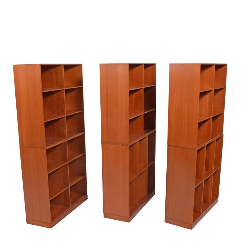 Scandinavian Modern Mogens Koch Six Open Bookcases for Rud Rasmussen For Sale