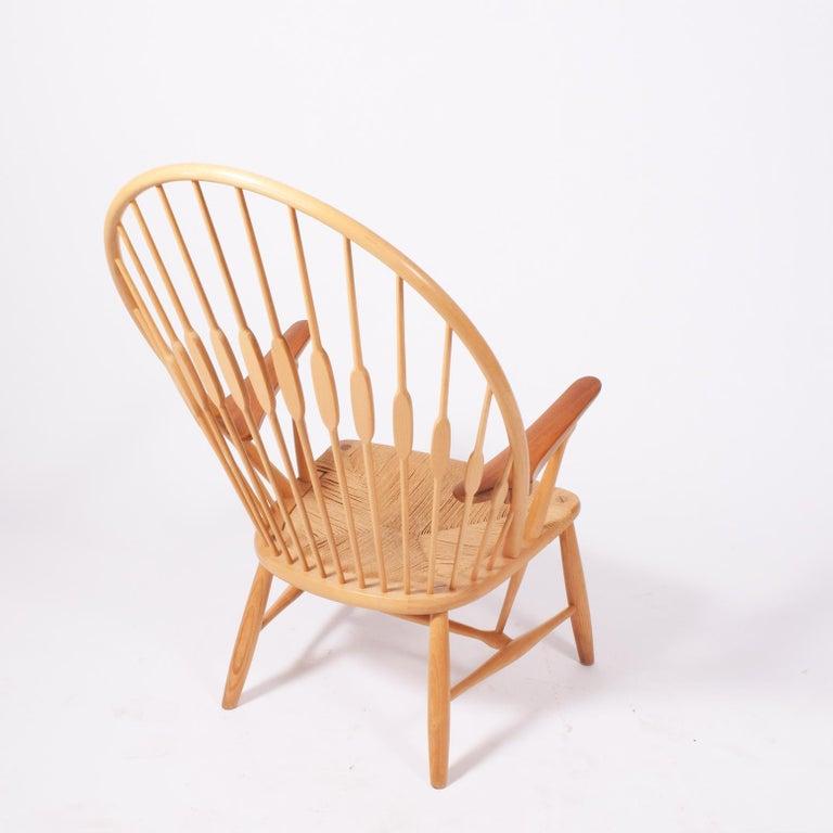 Scandinavian Modern Peacock Chair by Hans Wegner for Johannes Hansen For Sale