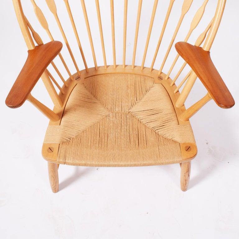 Mid-20th Century Peacock Chair by Hans Wegner for Johannes Hansen For Sale