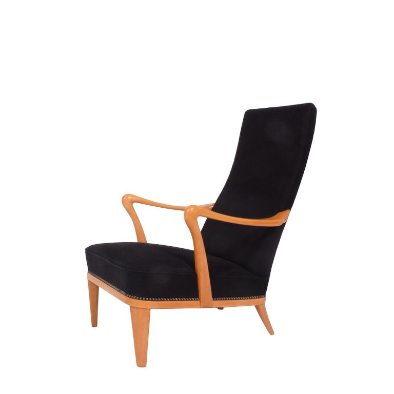 Swedish 1940s Easy Chair Attributed to Carl Malmsten For Sale