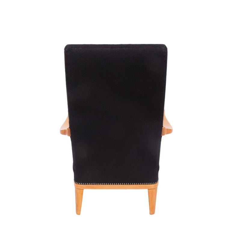 Scandinavian Modern Swedish 1940s Easy Chair Attributed to Carl Malmsten For Sale