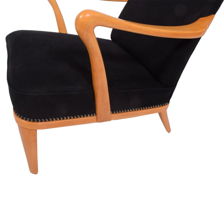 Swedish 1940s Easy Chair Attributed to Carl Malmsten In Good Condition For Sale In Dallas, TX