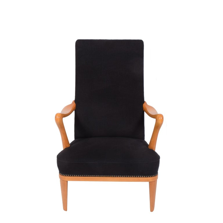 Mid-20th Century Swedish 1940s Easy Chair Attributed to Carl Malmsten For Sale