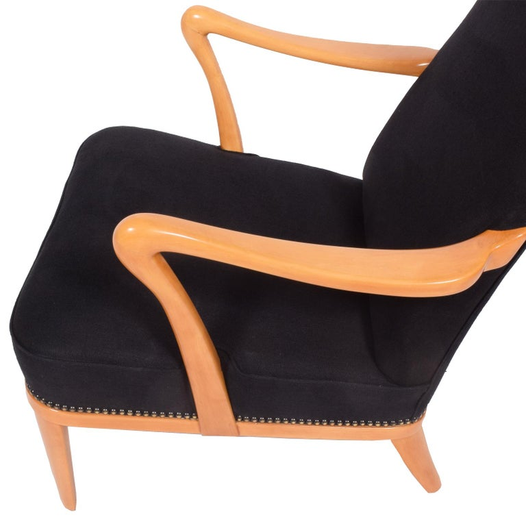 Swedish 1940s Easy Chair Attributed to Carl Malmsten For Sale 2