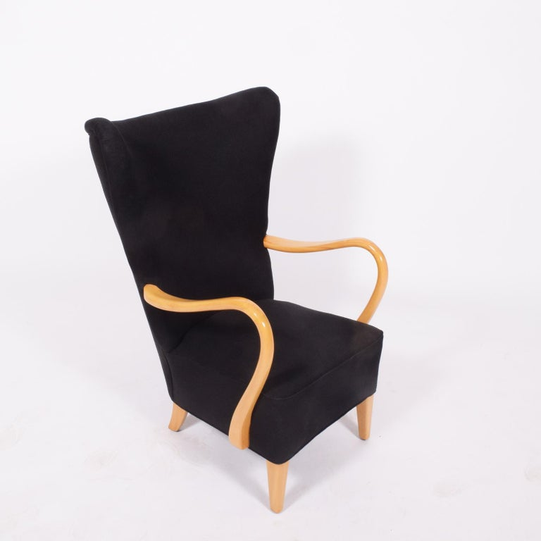 Swedish 1940s Easy Chair by Elias Svedberg For Sale