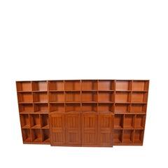 Mogens Koch Oregon Pine Bookcase or Wall Unit for Rud Rasmussen