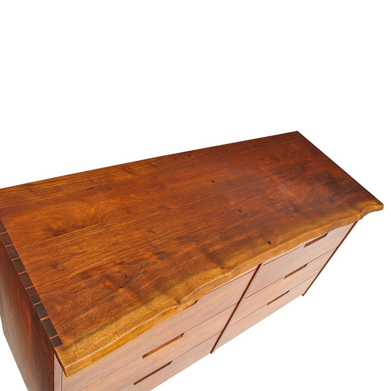 American Craftsman George Nakashima Chest of Drawer in Walnut Nakashima Studio For Sale