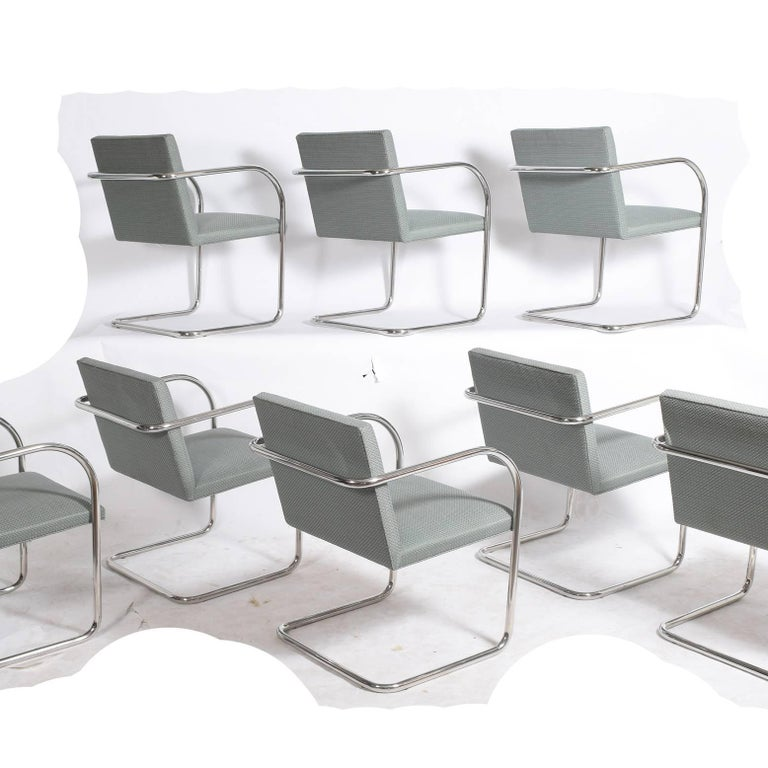 American Set of Eight Stainless Steel Brno Chairs by Mies van der Rohe for Knoll Inc. For Sale