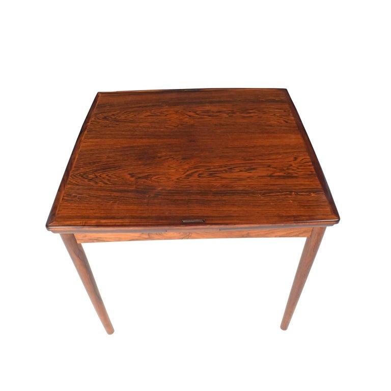 Scandinavian Modern 1960s Danish Rosewood Sign Game Table Design by Poul Hundevad For Sale