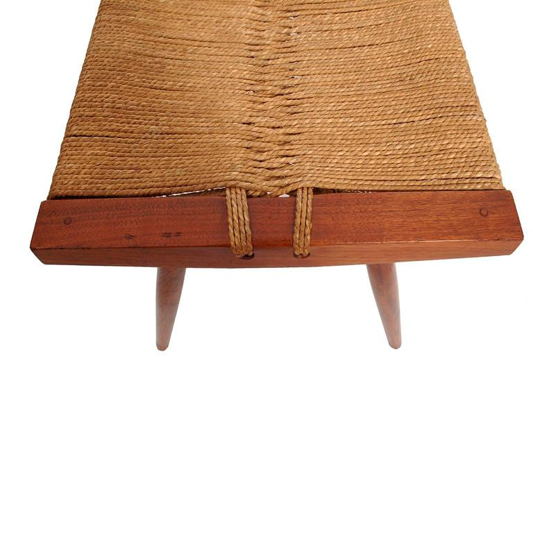 Grass Seat Stool By George Nakashima At 1stdibs
