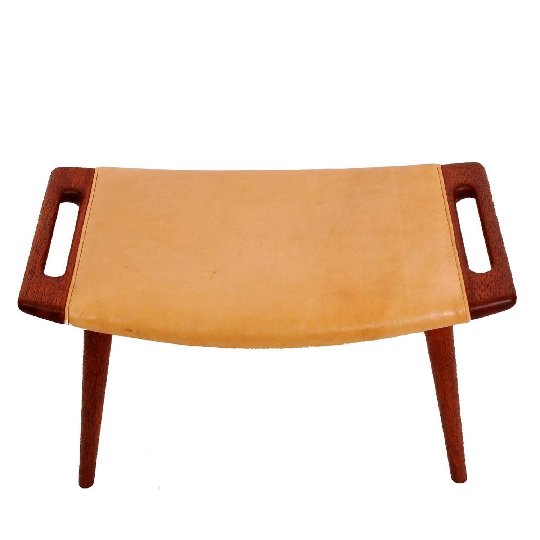 original production stool by hans wegner for a p stolen. Black Bedroom Furniture Sets. Home Design Ideas
