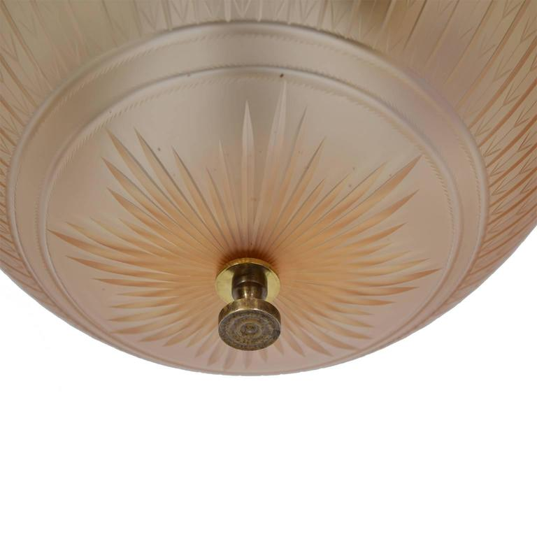 Mid-20th Century Orrefors Ceiling Lamp by Simon Gate, 1930s For Sale