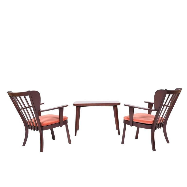 Pair Of Canada Series Chairs And Table By Christian Hansen For Fritz Hansen For Sale At 1stdibs