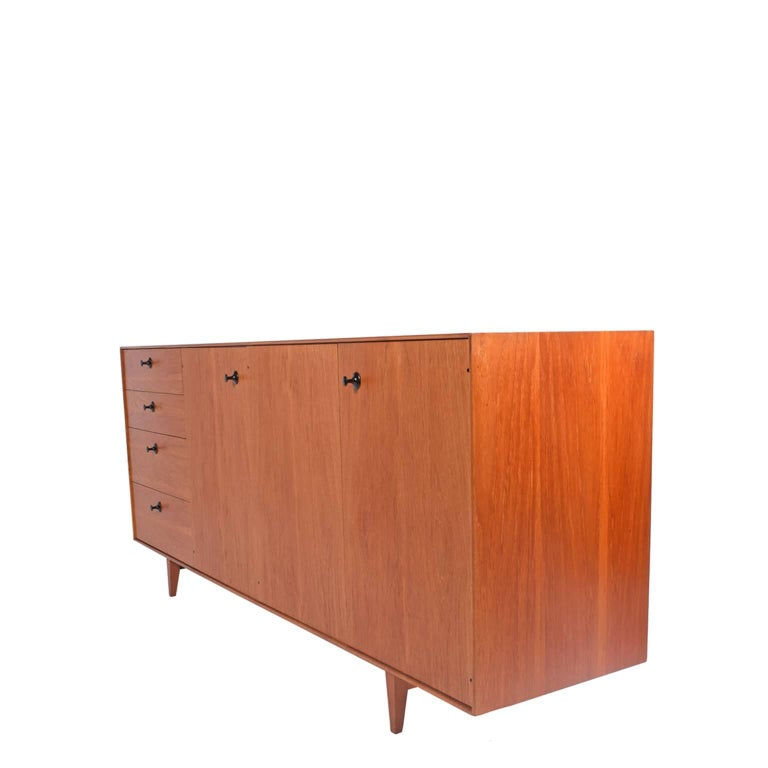 American Teak Thin Edge Cabinet by George Nelson and Associates for Herman Miller For Sale