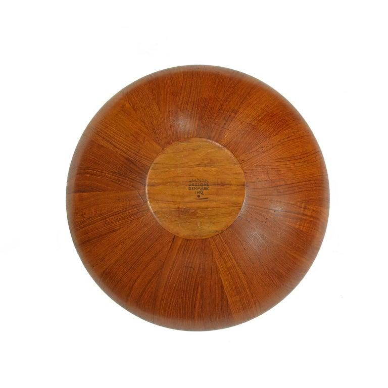 Jens H. Quistgaard Large Teak Bowl for Dansk In Excellent Condition For Sale In Dallas, TX