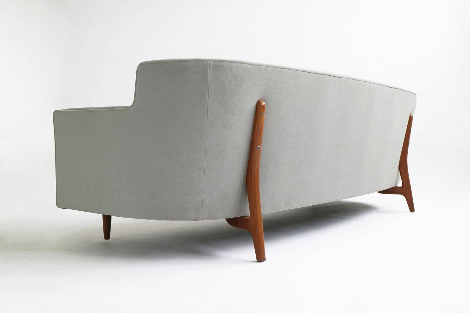 Curved Back Sofa In The Style Of Paul Mccobb At 1stdibs