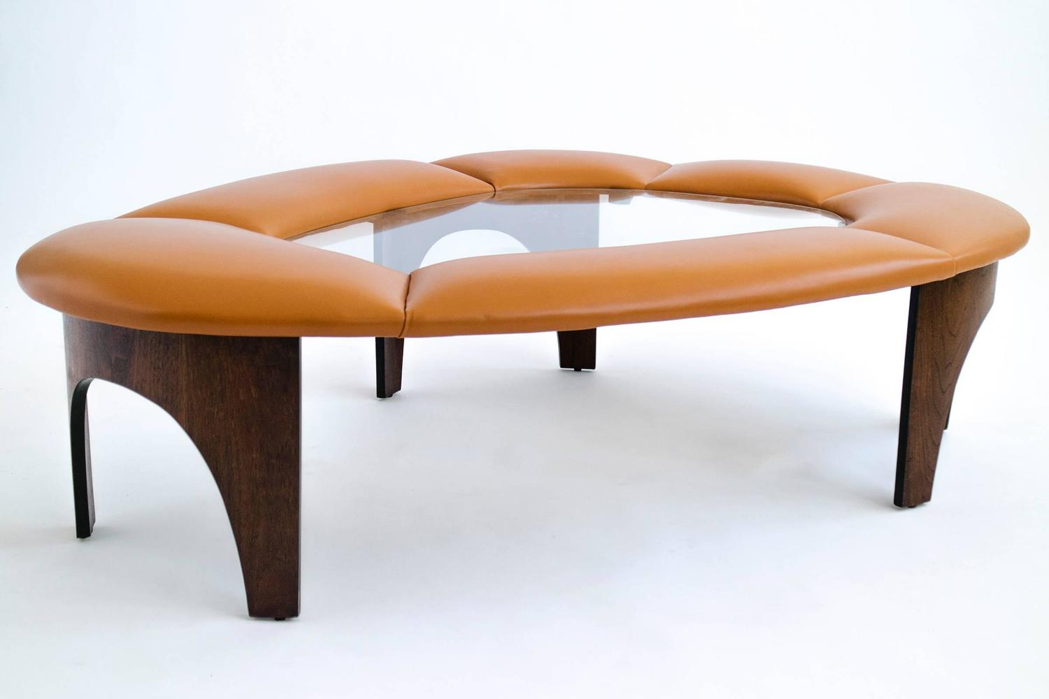 Henry Glass Upholstered Coffee Table For Sale At 1stdibs