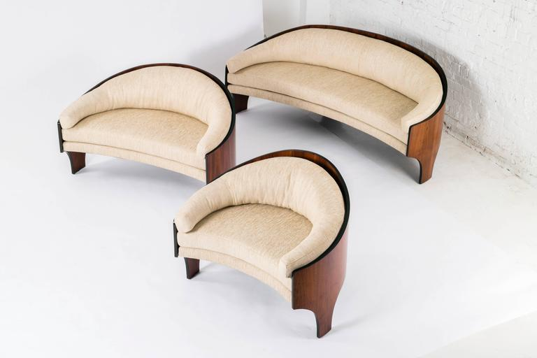 Henry Glass Quot Intimate Island Suite Quot Set Of Three Sofas At