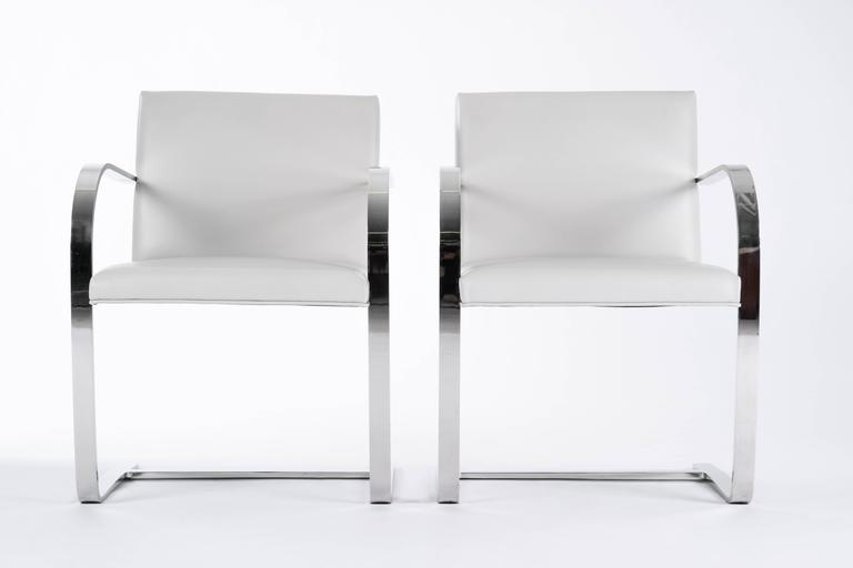 Mid-Century Modern  Pair of Mies Van Der Rohe Brno Chairs For Sale