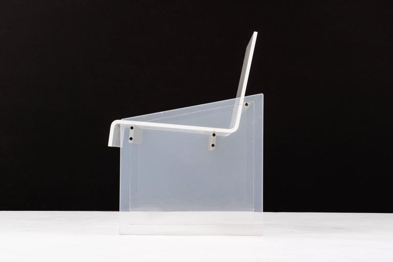 Mid-Century Modern Lucite Chair in the Style of Charles Hollis Jones For Sale