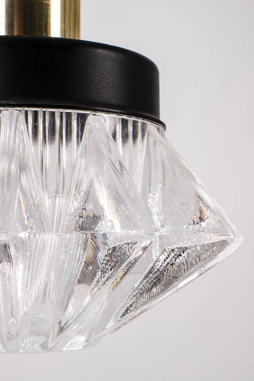 Mid-Century Modern Six Hanging Torch Chandelier For Sale