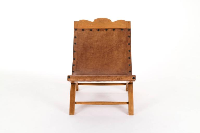 North American Clara Porset Butaque Lounge Chair For Sale