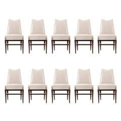 Rare Set of Ten Arturo Panni Dining Chairs