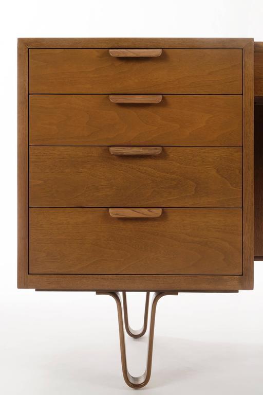 Cherry Edward Wormley Desk/Vanity For Sale
