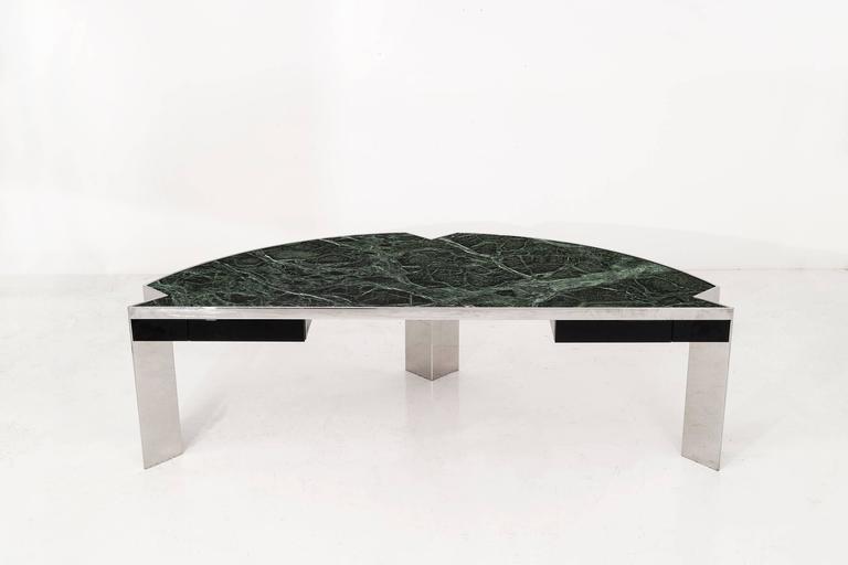 Mid-Century Modern Leon Rosen Mezzaluna Desk for Pace For Sale