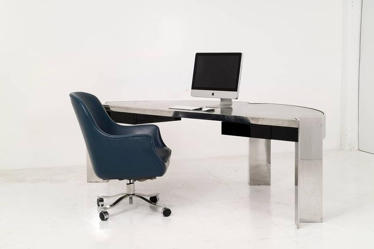 Leon Rosen Mezzaluna Desk for Pace For Sale 1