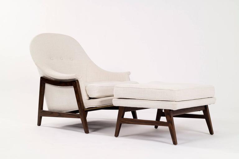 Edward Wormley Janus Lounge Chair and Ottoman 2