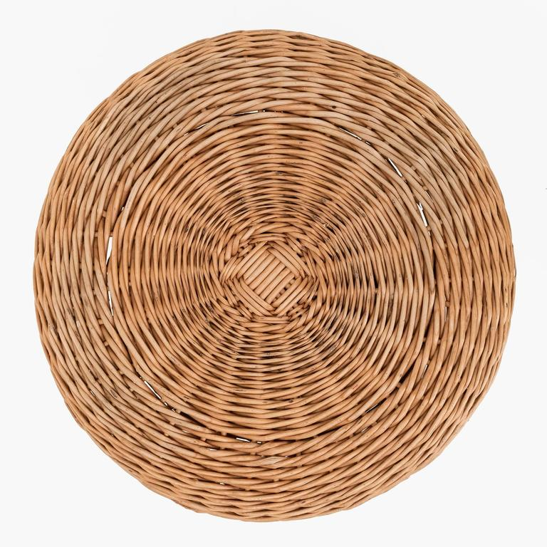 Tony Paul Attributed Rattan Stool For Sale At 1stdibs