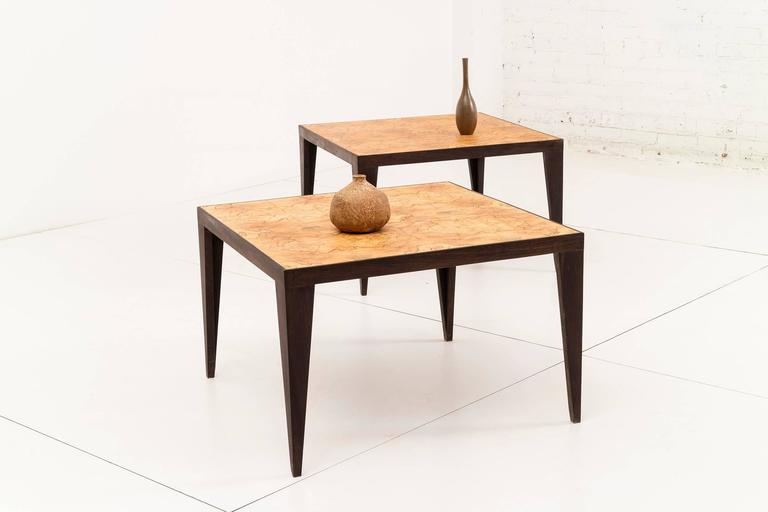 Maple Pair of Roberto Sorrondeguy End Tables For Sale