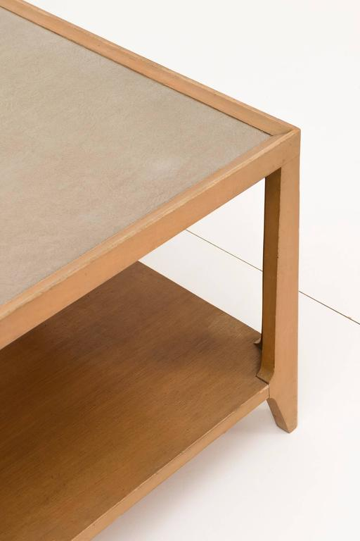 Mid-Century Modern Edward Wormley Leather Top Coffee Table For Sale