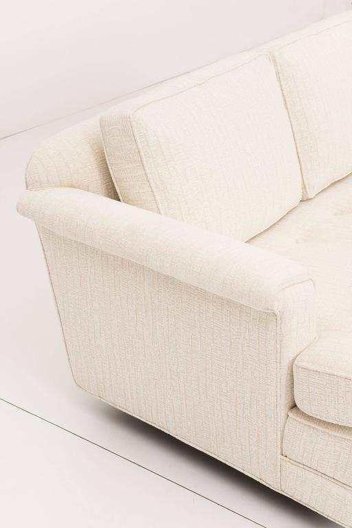 Upholstery Pair of Edward Wormley Paddle Arm Sofas for Dunbar For Sale