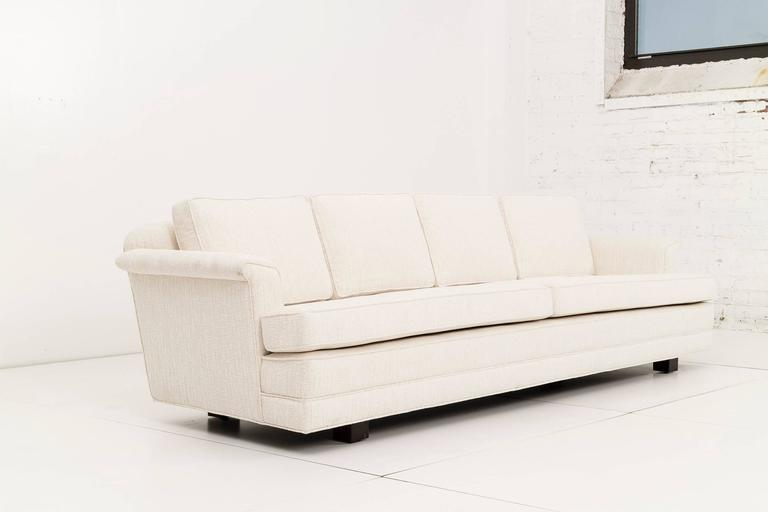 Pair of Edward Wormley Paddle Arm Sofas for Dunbar In Excellent Condition For Sale In Chicago, IL