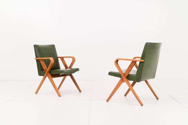 Pair of Henry Glass Armchairs 3