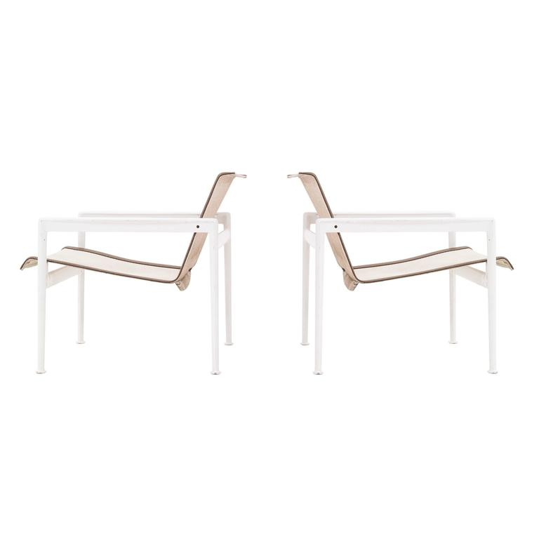 Pair of Richard Schultz 1966 Series Lounge Chair with Arms 1