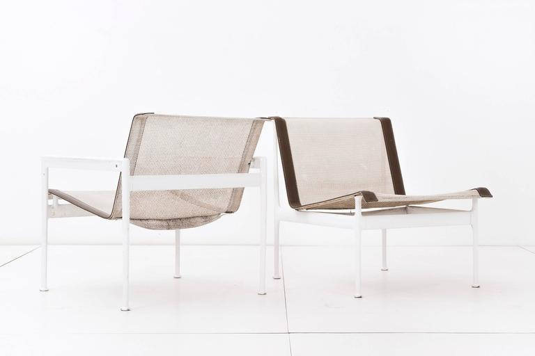 Richard Schultz for 1966 series for Knoll. Set of four outdoor lounge chairs.