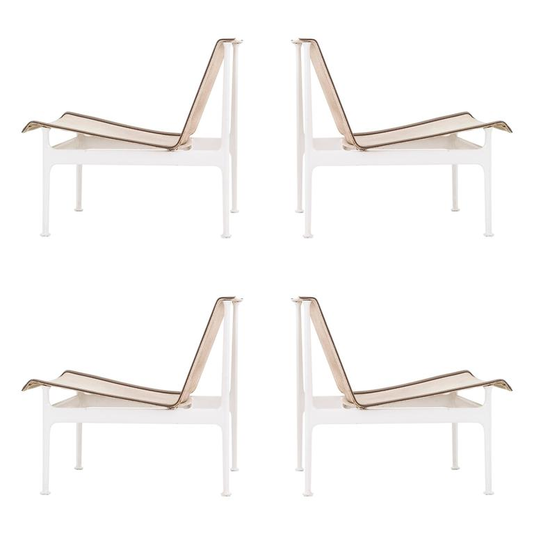 Set of Four Richard Schultz 1966 Series Armless Lounge Chairs For Sale