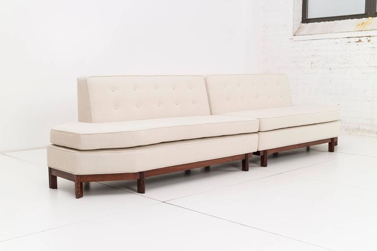 Merveilleux Symmetrical Two Piece Frank Lloyd Wright Sectional Banquette Sofa For  Heritage Henredon. The