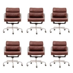Set of Six Charles Eames Soft Pad Chairs