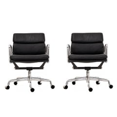 Pair of Charles Eames Soft Pad Chairs