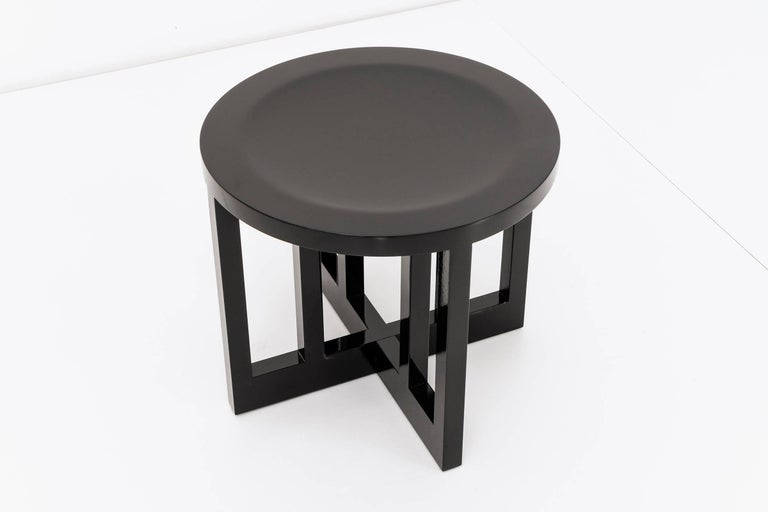 Lacquered Set of Six Richard Meier Stools For Sale
